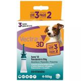 Vectra 3d Cães 4 A 10kg 1.6ml Anti-pulgas Ceva 3 Pipetas