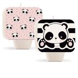 Vela Aniversário Plana Dupla Face Panda Dec. Festas - Cromus