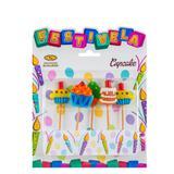 Vela de Aniversário Cupcake Mundo Bizarro - Festabox