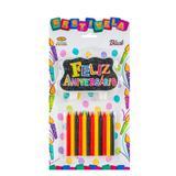 Vela de Aniversário Feliz Aniversário Black Mundo Bizarro - Festabox