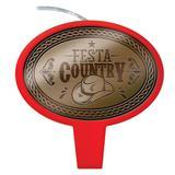 Vela de Aniversário Festa Country Festcolor - Festabox