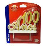 Vela Número 100 Anos Luxo Dourada Velarte