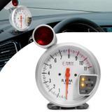 Velocímetro Contagiro LED 7 Cores com Shift Light Vermelho e Cinza - Prime