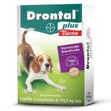 Vermífugo Bayer Drontal Plus 776,5mg Cãe Até 10kg 04 Comprimido