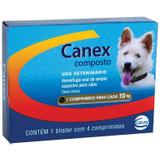 Vermífugo Canex Composto Cães 10kg 04 Comprimidos - Ceva