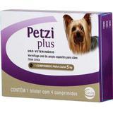 Vermífugo Ceva Petzi Plus 350 mg para Cães - 4 comprimidos