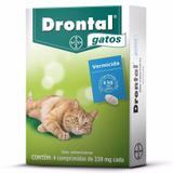 Vermífugo Drontal Gatos Até 4kg Com 4 Comprimidos 339mg Cada - Bayer