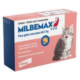 Vermífugo Milbemax G Gatos De 0,5kg A 2kg Com 2 Comprimidos - Elanco