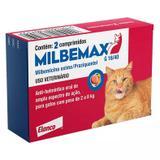 Vermífugo Milbemax G Gatos De 2kg A 8kg Com 2 Comprimidos - Elanco