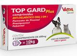 VERMIFUGO PARA CACHORRO -TOP GARD PLUS  600 MG - COM 100comprimidos - Vansil
