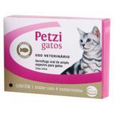 Vermífugo Petzi gatos - 4 comprimidos - Ceva