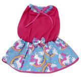 Vestido para Cachorro em malha com lacinho rosa tamanho G - Nica pet