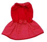 Vestido Para Cachorro Malha Com Lacinho Vermelha Tamanho P - Nica pet