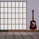 Violão - adesivo de parede - Leguts adesivos especiais