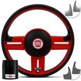 Volante Esportivo Fiat 147 Rallye Vermelho Aplique Extra com Cubo Shutt RS