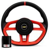 Volante Esportivo Golf GTI Vision Preto Vermelho Cubo Celta Prisma Corsa Vectra Astra Kadett 82 a 14 - Prime