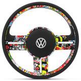 Volante Esportivo Rallye Bomber Stick Gol Celta Astra com Acionador de Buzina Emblema VW e sem Cubo - Cvd