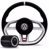 Volante Golf Gti Gol Parati Saveiro G2 G3 G4 Prata Vision Com Cubo - Valepur