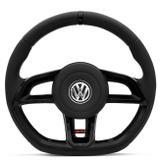 Volante Modelo Golf GTI Vision Preto Acionador de Buzina Gol Parati Saveiro G2 G3 G4 Cubo Embutido - Cvd