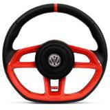 Volante Modelo Golf GTI Vision Vermelho Acionador de Buzina Universal Gol Celta Astra Saveiro - Cvd