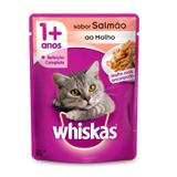 Whiskas Sachê Salmão Alimento úmido para gatos adultos - caixa 18 unidades de 85g