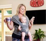 Wrap Sling Cinza Mescla - Sling mamãe e bebê