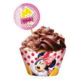 Wrapper para Cupcake Minnie Vermelha 12 unidades Regina Festas