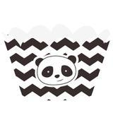 Wrapper para Cupcake Panda 12 unidades Duster - Festabox