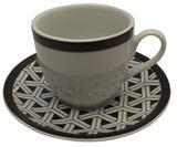 Xícara de Chá com Pires em Porcelana Coup Germer