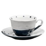 Xicara de Chá com Pires Teardrop Azul - 6 unid - Soul home