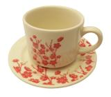 Xícara de Louça para Chá com Pires Donna Jardim Oriental Biona Oxford