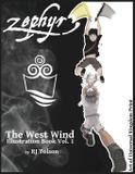 Zephyr The West Wind Illustration Book - Universal kingdom print