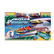 Lancha de Controle Remoto Movido a Bateria Aqua Racer Br208 Multikids