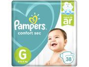 Fralda Pampers Confort Sec Tam. G 38 Unidades - Extra Sec Pods