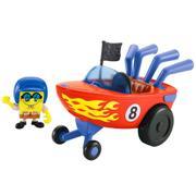 Boneco e Veículo Lancha Hot Rod Boat Imaginext Bob Esponja Fisher Price