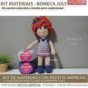 Kit Amigurumi Ursa Helena - Materiais com Receita Impressa | 180x180