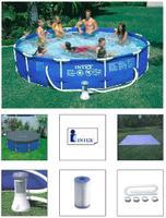 Piscina Circular Intex Estrutural 110 6.503l - Com Bomba Filtro