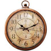 21f4f380b2b Relógio De Parede Vintage Bússola Dourado - Versare anos dourados ...