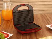 Sanduicheira/Grill Cadence Easy - Meal Color Vermelha 750W Antiaderente - 110V