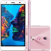Smartphone Quantum Muv Rosa, Quad Core, Android 6.0, Tela 5.5, 16gb, 13mp, 4g, Dual Chip, Desbl - Ro -