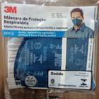 10 Máscaras de Proteção Respiratória Dobrável 3M 9820+BR PFF-2(S)