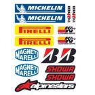 Adesivos de capacete e moto patrocinios cartela 15 adesivos