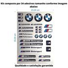Super Cartela c/ 34 Adesivos BMW performance carro Moto Bike