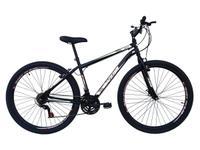 Bicicleta em Aço Carbono Preta Aro 29 18v Marchas Freio V-Brake - Xnova