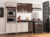 Cozinha Completa Poliman Móveis Luiza com Balcão