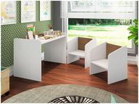 Escrivaninha para Quarto Infantil 2 Cadeiras