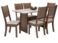 Mesa de Jantar 6 Cadeiras 6 Lugares Retangular