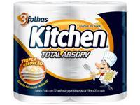 Papel Toalha Folha Tripla Kitchen Total Absorv