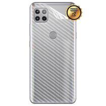 02 Película Fibra Carbono Skin Traseira MOTO G 5G XT2113-3 (Tela 6.7) CELL IN POWER25 -