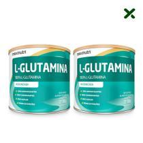 02 Suplemento Aminoácido L-Glutamina Pó 300g 100% Pura Loja Maxinutri -